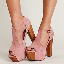 Shoespie Super High Pink Platform Sandals