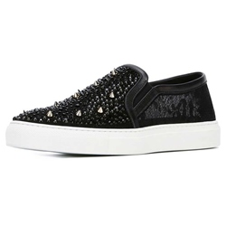 Shoespie Black Spikes Men's Sneakers