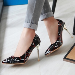 Shoespie Colorful Print Stiletto Heels