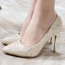Shoespie Elegant Sequined Stiletto Heels