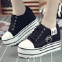 Shoespie Plain Round Toe Canvas Shoes