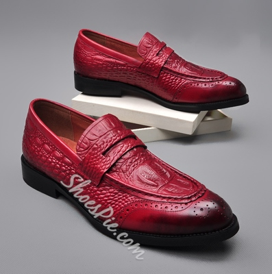 Shoespie High Quality Embossed Leather Men's Shoes