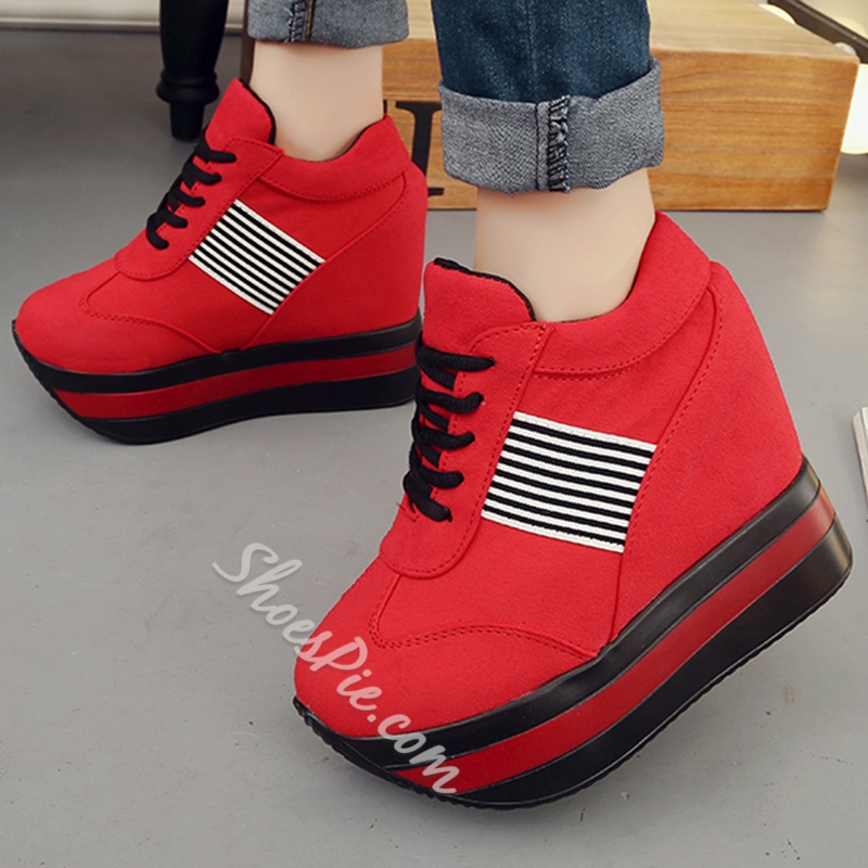 Shoespie Comfortable Hidden Wedge Heel Sneakers