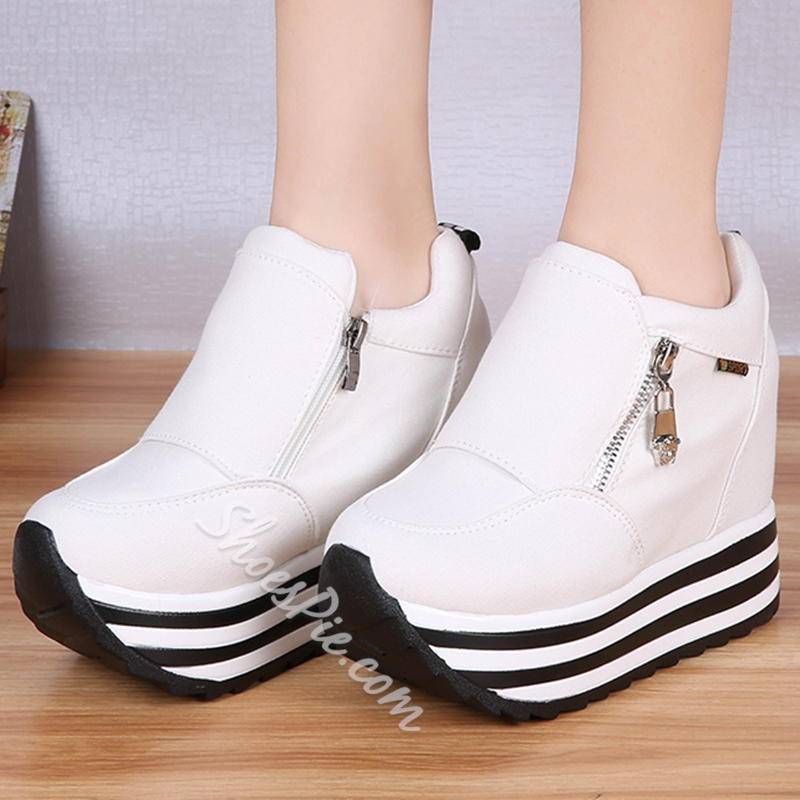 Shoespie Sporty Round Toe Sneakers