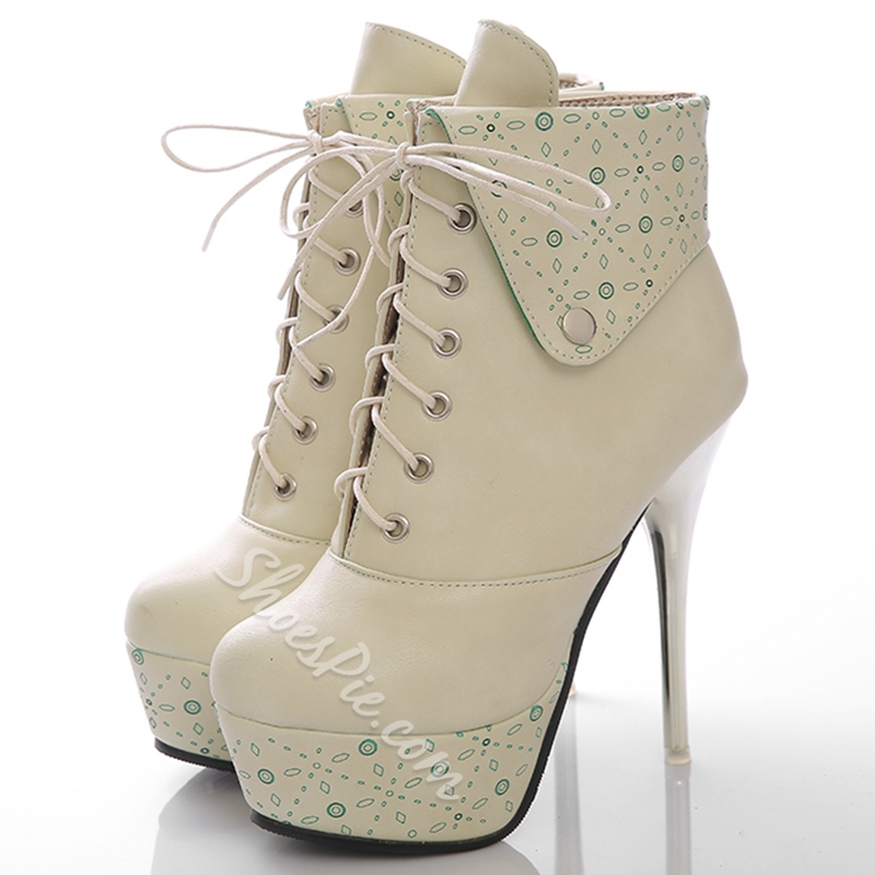 Shoespie Androgynous Designs Sequined Platform Ankle Boots