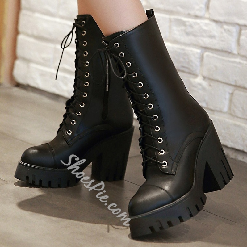 Shoespie Androgynous Designs Lug Sole Martin Boots