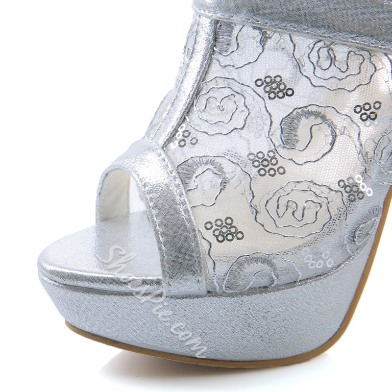Shoespie Stylish Embroidered Mule Shoes