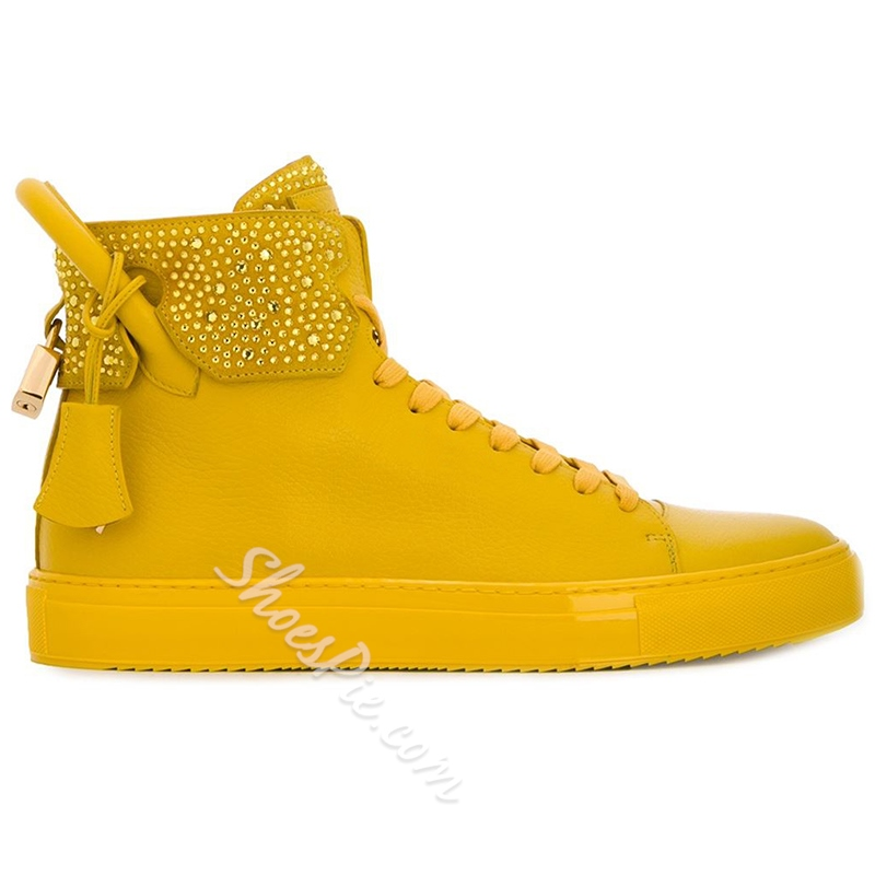 Shoespie Ginger Yellow Men's Sneakers