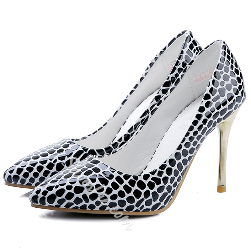 Shoespie Chic Print Work Stiletto Heels
