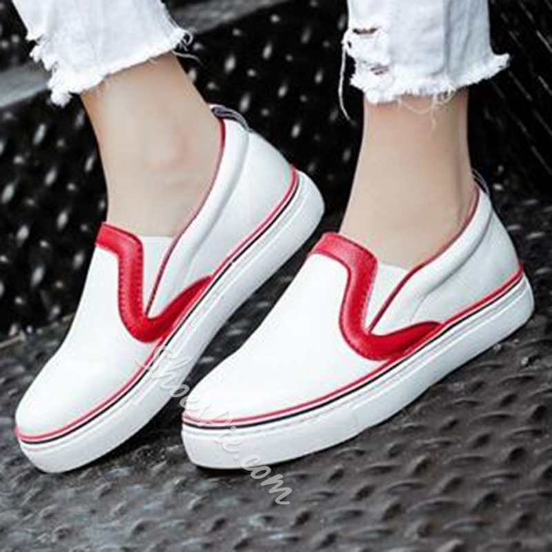 Shoespie Fashion Contrast Color Round Toe Canvas Shoes