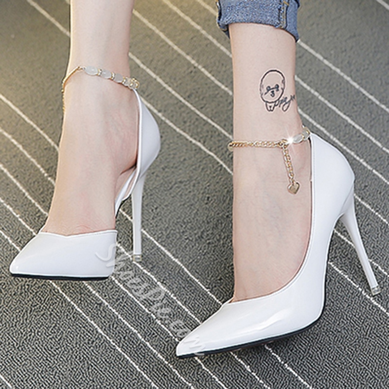 Shoespie Beaded Ankle Wrap Stiletto Heels