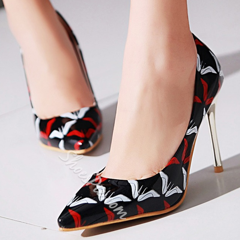 Shoespie Gorgeous Shoes Print Stiletto Heels