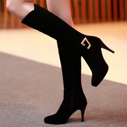 Shoespie Sexy Black Stiletto Heel Ankle Boots