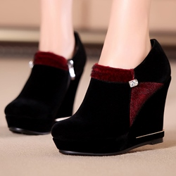 Shoespie Soft Wedge Heel Ankle Boots