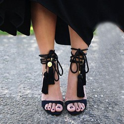 Shoespie Chic Ethnic Style Lace Up Dress Sandals