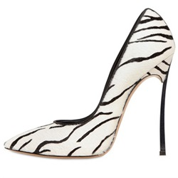 Shoespie Classy Zebra Pointed Toe Stiletto Heels
