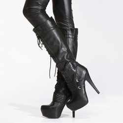 Mens Knee High Motorcycle Boots - Shoespie.com