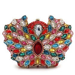 Shoespie Colorful Rhinestone Clutch