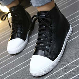 Shoespie Street Savvy Color Block High Upper Sneakers