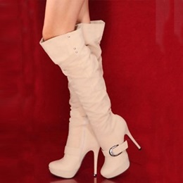 Elegant OL Style Over Knee High Boots