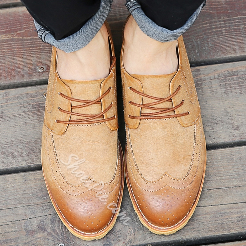Shoespie Lace up Semi Brogues