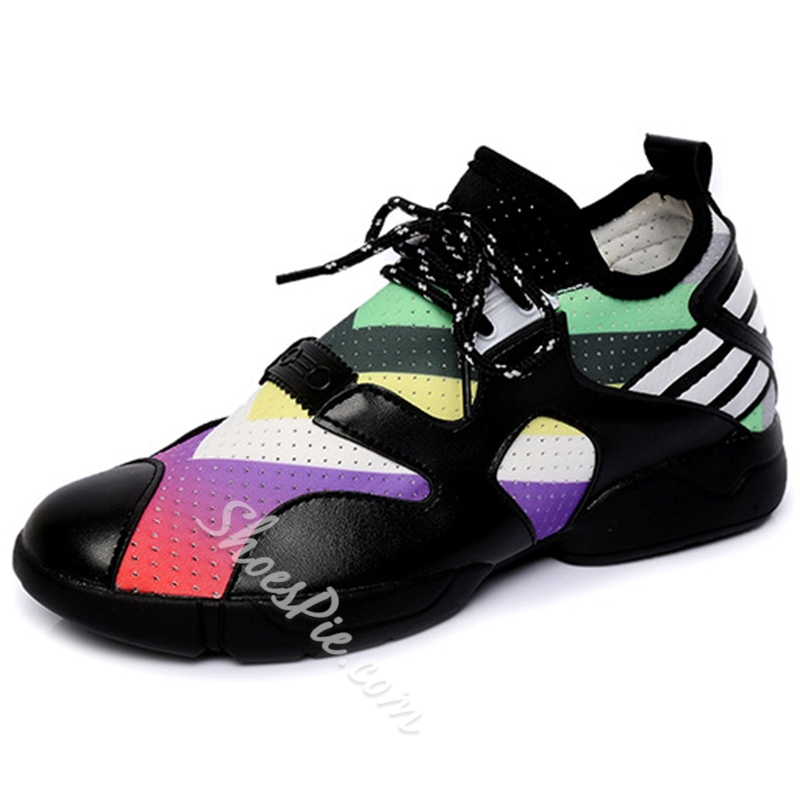 Shoespie Street Savvy Color Block Sneakers