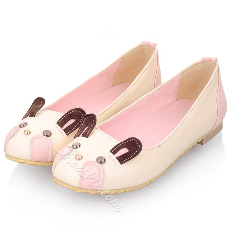 Shoespie Cute Animals Shape Loafers