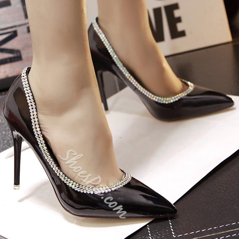 Shoespie Rhinestone Embellished Stiletto Heels