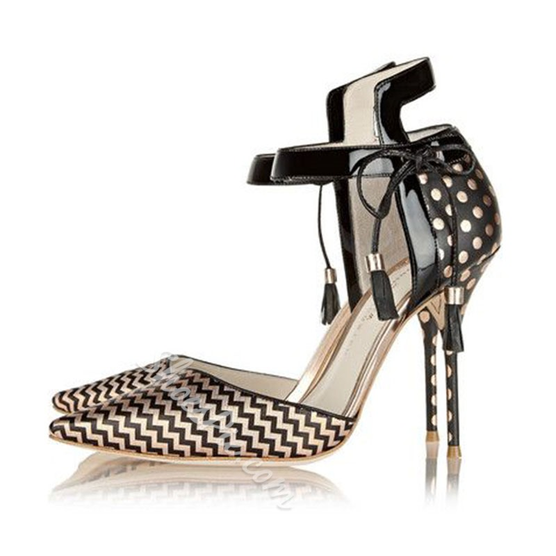 Shoespie Golden Printed Stiletto Heels