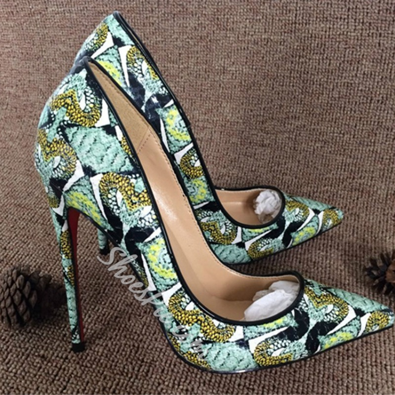 Shoespie Fashion Print Stiletto Heels