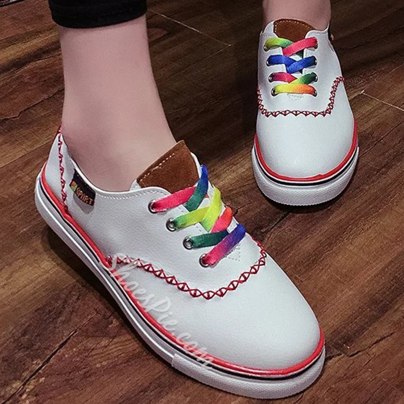 Shoespie Classy Rainbow Shoelace Sneakers