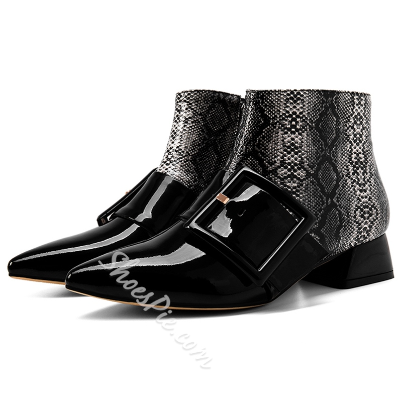 Shoespie Ethnic Style Geometric Shapes Ankle Boots