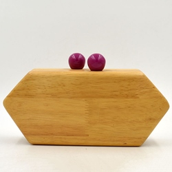 Shoespie Elegant Wooden Clutch