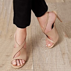 Shoespie Awesome Nude Dress Sandals