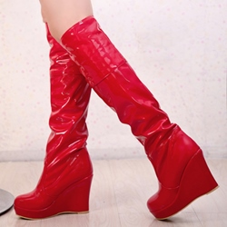 Shoespie Platform Wedge Heel Knee High Boots