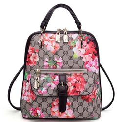 Shoespie Classy Flower Embellished Backpack