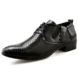 Shoespie Embossed Leather Men's Shoes