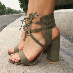 Shoespie Chic Chunky Heel Sandals