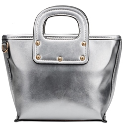 Shoespie Trendy Metallic Rivets Handbag