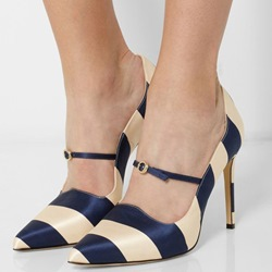 Shoespie Elegant Date Striped Stiletto Heels