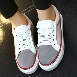 Shoespie Casual Color Block Round Toe Sneakers