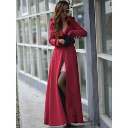 Long Slim Fashion Women's Trench Coat