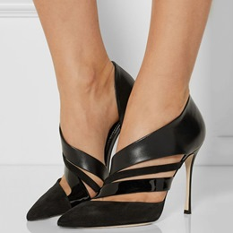 Shoespie Awesome Black Stiletto Heel Court Shoes