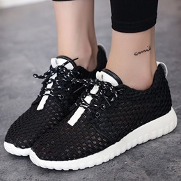 Shoespie Contrast Color Mesh Sneakers