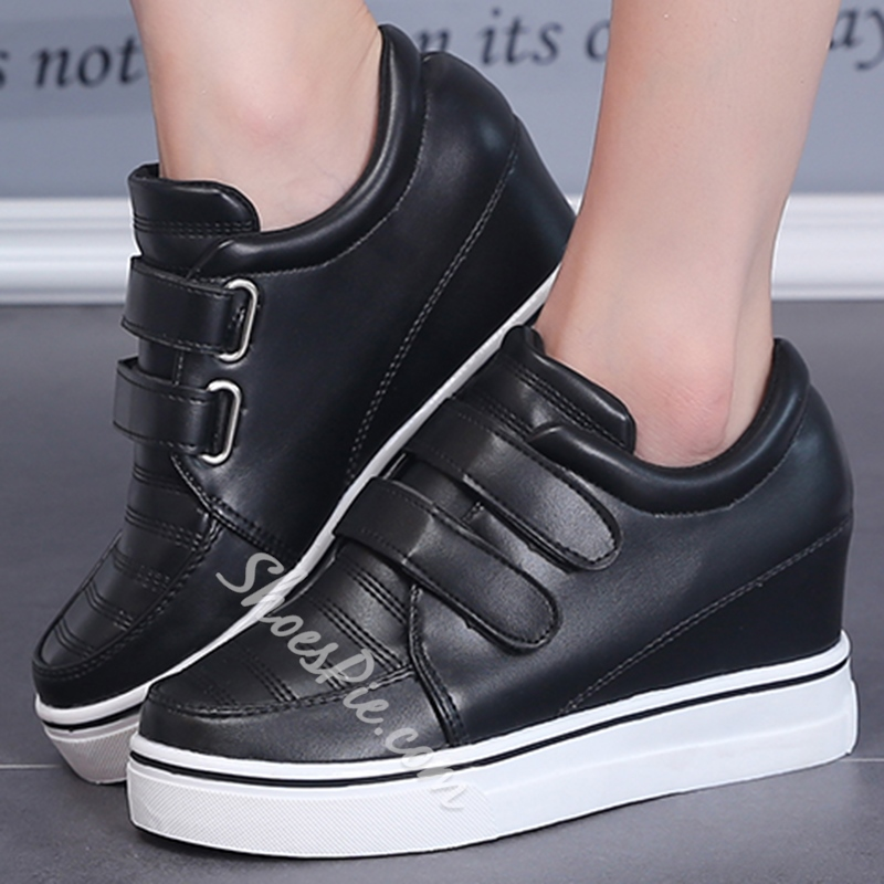 Shoespie Solid Color Wedge Sneakers