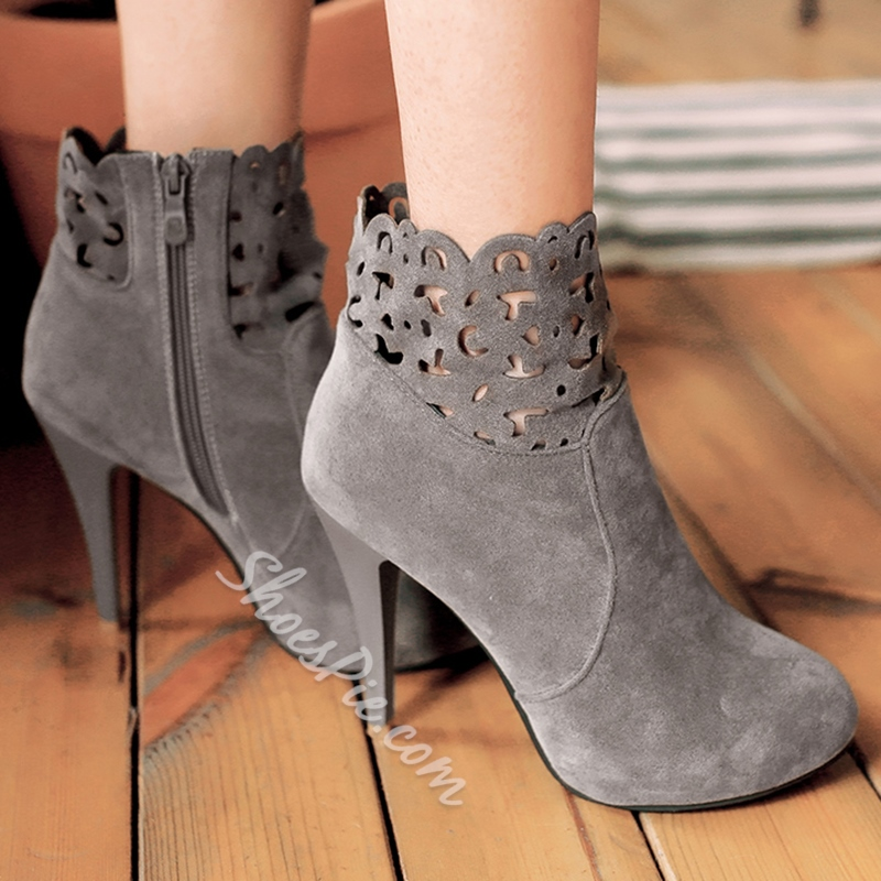 Shoespie Classy Cut Out Booties