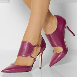 Shoespie Elegant Rose Pointed Toe Court Shoes