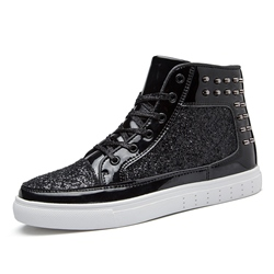 Shoespie Sequin and Rivets Men's Sneakers