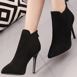 Shoespie Chic Solid Color Stiletto Heel Ankle Boots