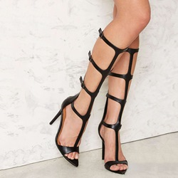 Shoespie Gorgeous Black Gladiator Sandals